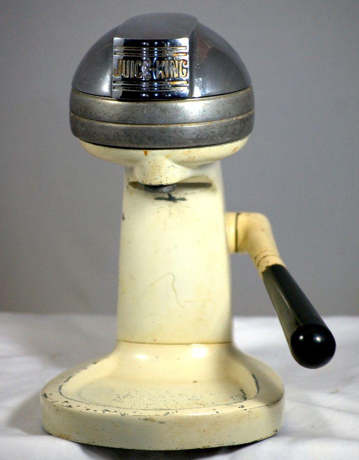 American Made Juicer ~ Vintage juice king jk juicer fruit press made in usa