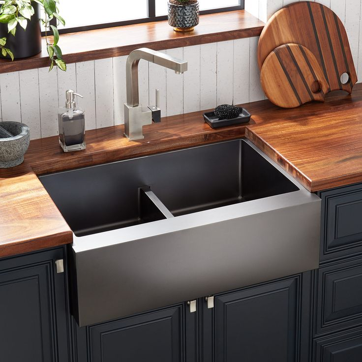 29 atlas doublebowl stainless steel farmhouse sink