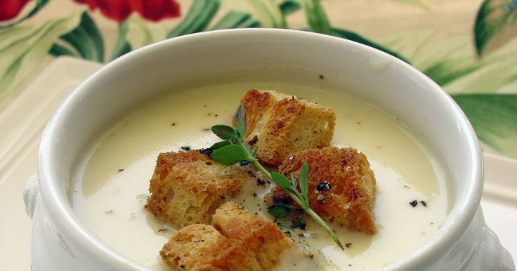 Basic Leek and Potato Soup   Julia's and Jacque Pepin  Note: I always add fresh thyme and garlic when I make this soup. Serve hot or cold. ...