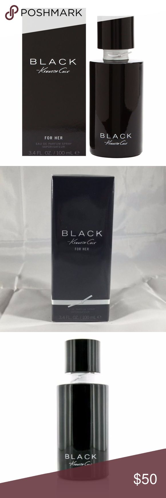 Kenneth Cole Black 3.4oz Eau de Parfum Spray $78 Kenneth Cole Black 100ml/3.4oz EDP Eau De Parfum Spray Perfume For Women New in the Sealed Retail Box 100% Authentic Retail Price: $78.00  The composition opens with violet & citrus. Shortly the white flowers come to the scene & unrivaled rule the heart of the fragrance: Jasmine, ylang-ylang, lily of the valley, magnolia, tuberose, hyacinth, lotus & iris. The comfortable & warm notes of sandalwood, musk & amber tame the ecstatic flowers…