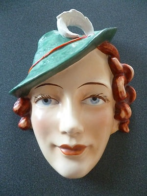 Art Deco Lady Wall Mask / Plaque