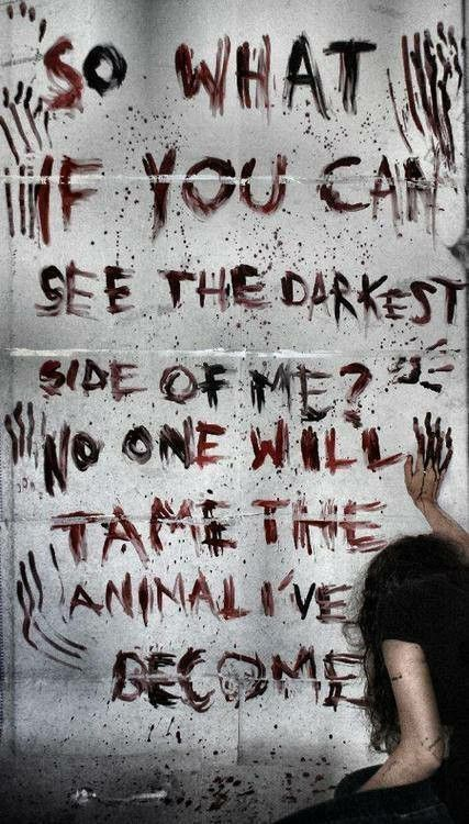 Three Days Grace- Animal I Have Become. One of my favorite songs by 3DG