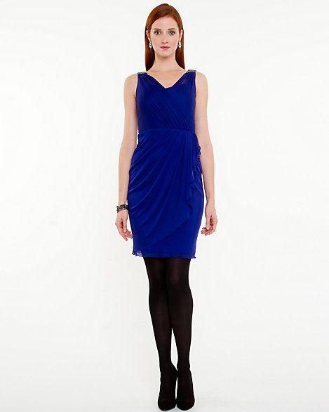 Chiffon V-Neck Dress