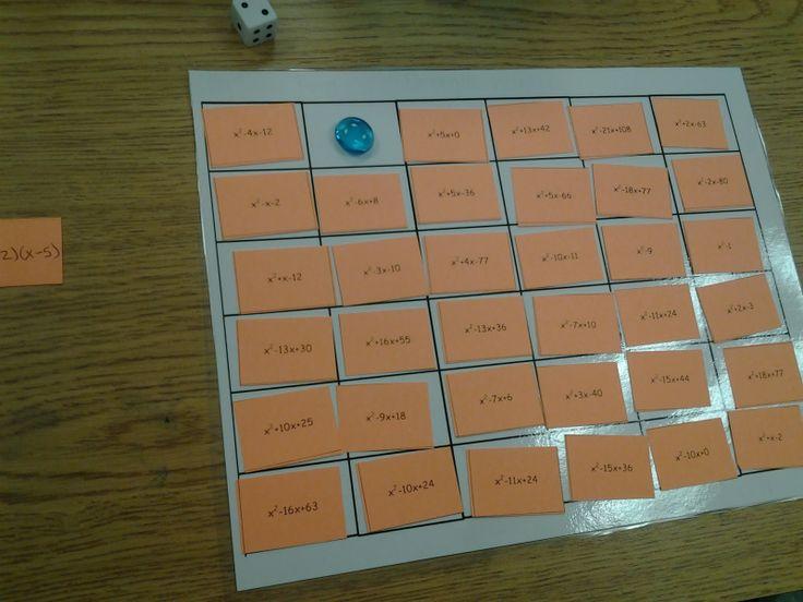 Type A Mathland Factoring Game Blend Of Block Game