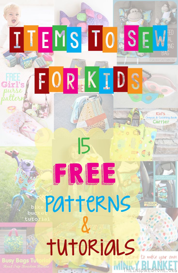 Looking for something fun to sew for the kids this summer? Check out this list of 15 awesome FREE sewing tutorials!