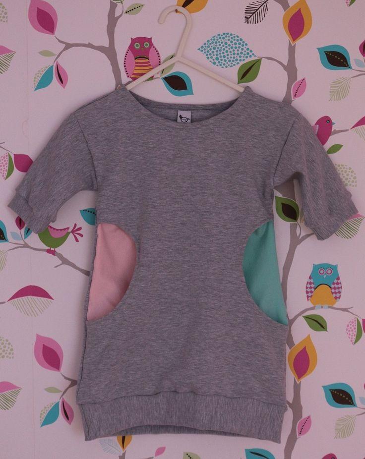 Sukienka-tunika w sam raz na deszczowe, chłodne dni dla małej damy