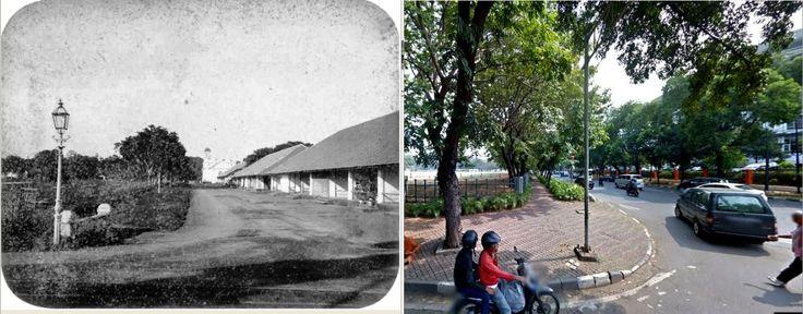 Officierswoningen in Weltevreden te Batavia, voor 1880, ,., jl Lapangan Banteng Utara, Jakarta, 2014