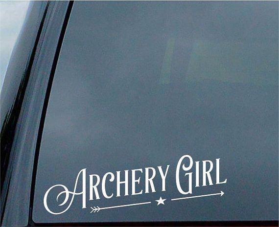 Tir à l'arc fille autocollant pour vitre de la par ArtSticka
