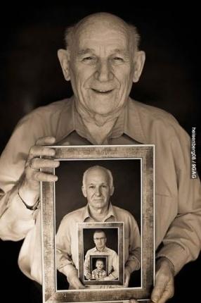 Vier generatie foto - Voor als ik ooit een meisje krijg..