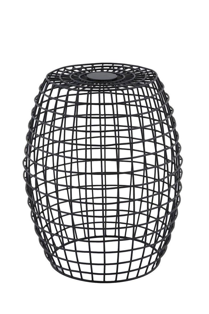 $149 Maeve Modern Designer Wire Side Table - Black - The Linear look meets contemporary function in our colourful side tables. With attention to detail, they will brighten up any living area.   Made from sturdy iron for a solid structure that will last you for years to come. Different lines make out inte