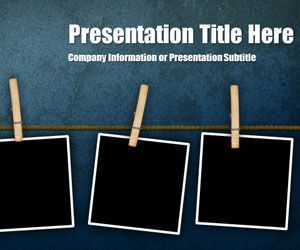 Peg Grunge PowerPoint template is another free background template for Microsoft PowerPoint presentations