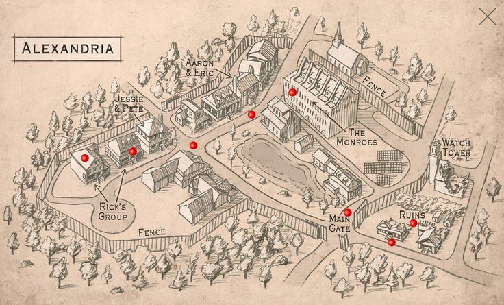 The Walking Dead Alexandria Map