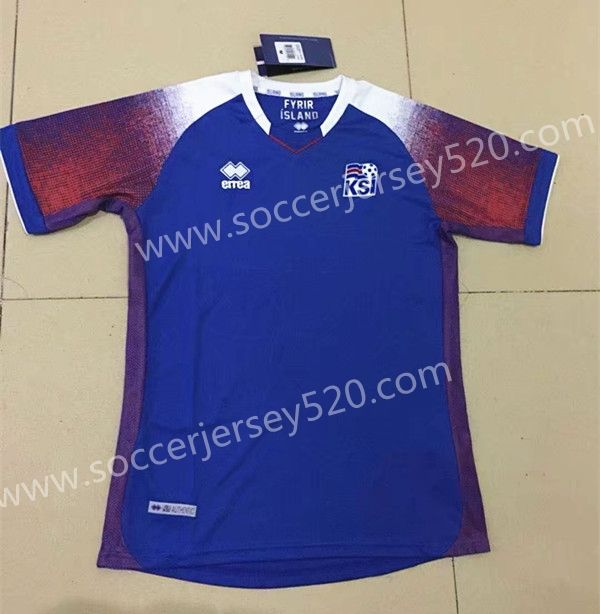 2018 World Cup Iceland Home Blue Thailand Soccer Jersey AAA  4423ca0f5