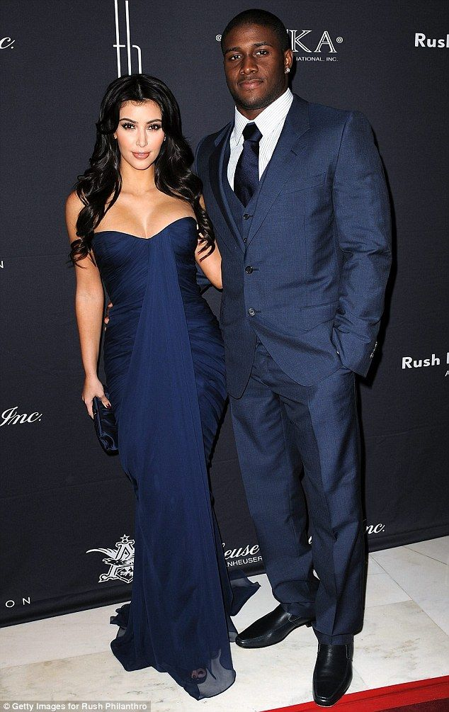 Former flame: Reggie dated Kim Kardashian from 2007 until 2010. They are seen here in Marc...