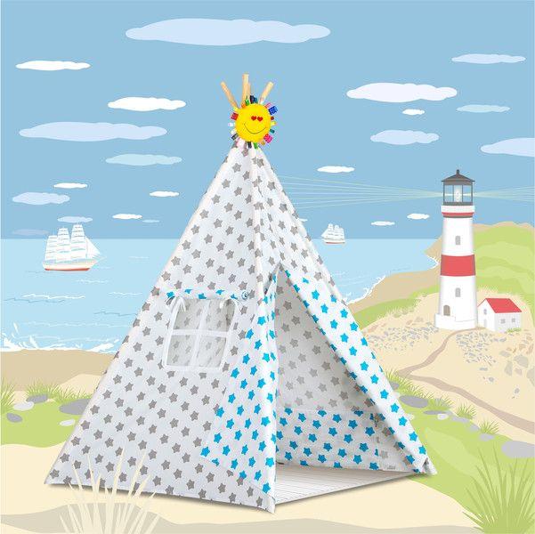 Wohnaccessoires - Tent TIPI TEEPEE Indianerzelt - ein Designerstück von Dream-zzz bei DaWanda