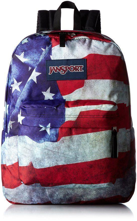 JANSPORT - HIGH STAKES BACKPACK - MULTI GRUNGE USA FLAG