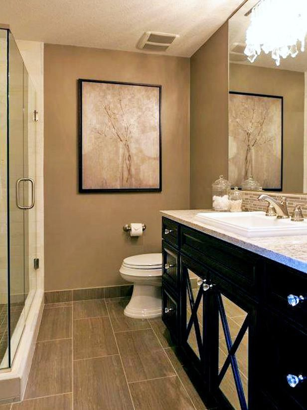 Mirrored cabinet doors more luxury designer bathroom for Bathroom designs hgtv