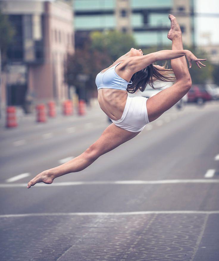 Analynn, Boise dancer playing in traffic. By Mike Reid , Boise photographer.
