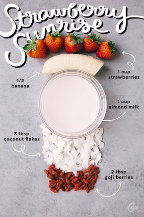 4. Strawberry Sunrise #greatist http://greatist.com/eat/simple-smoothie-recipes