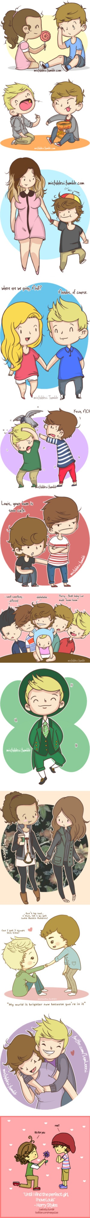 """One Direction Cartoons 3"" by victoria-peerson ❤ liked on Polyvore"