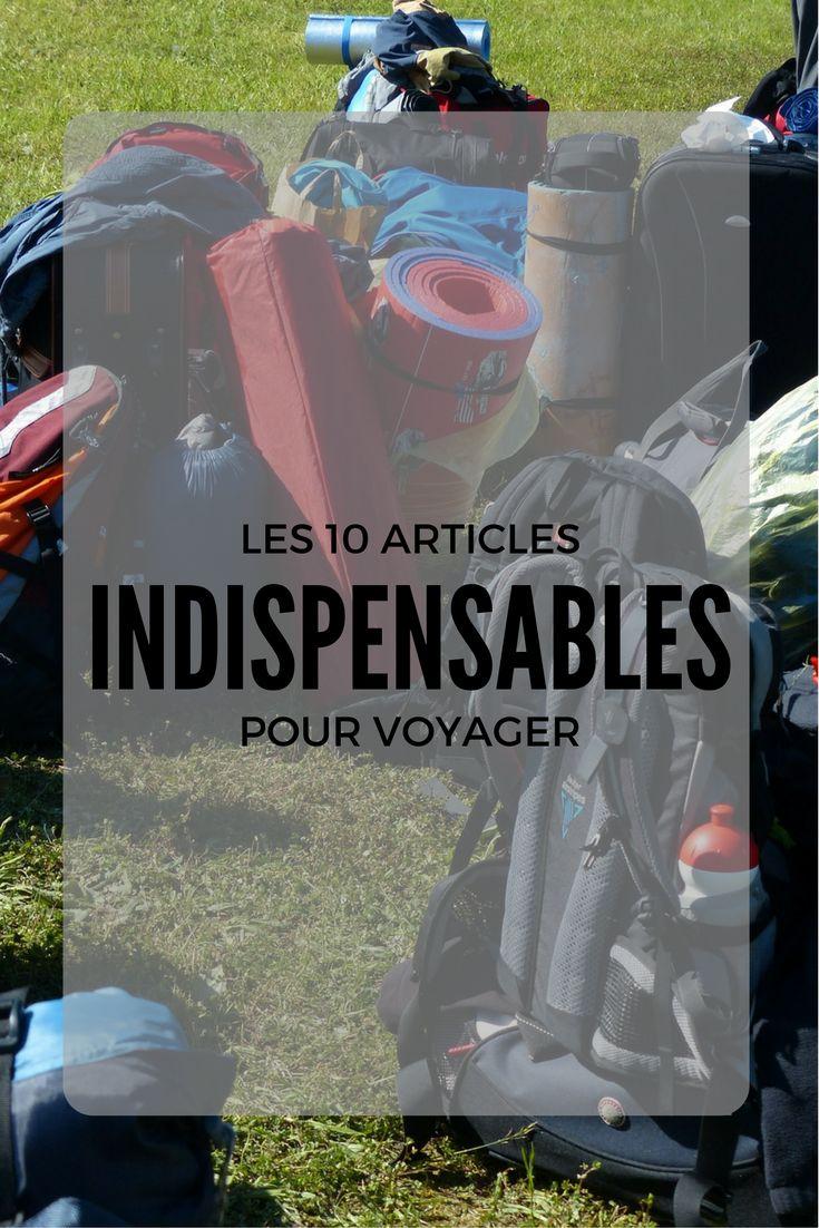 10 articles indispensables en voyage - Moi, mes souliers  #voyage #planification