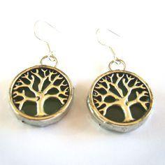 Δέντρο της Ζωής Σκουλαρίκια Βιτρώ