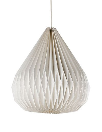 Folding Droplet Paper Ceiling Lamp Shade Home
