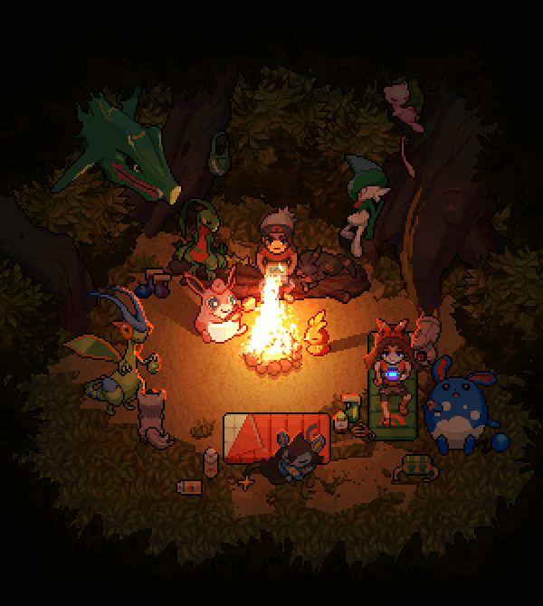Výsledek obrázku pro pokemon camping
