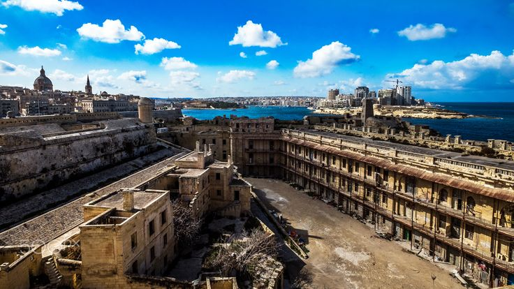 Valetta, Old and New - View from Fort St. Elmo in Valetta. Shot with a Fuji XT1 and a 10-24mm Fujinion Lens