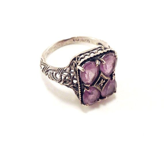 Beautiful Antique Filigree Sterling Ring with by baileysbizarre, $54.95