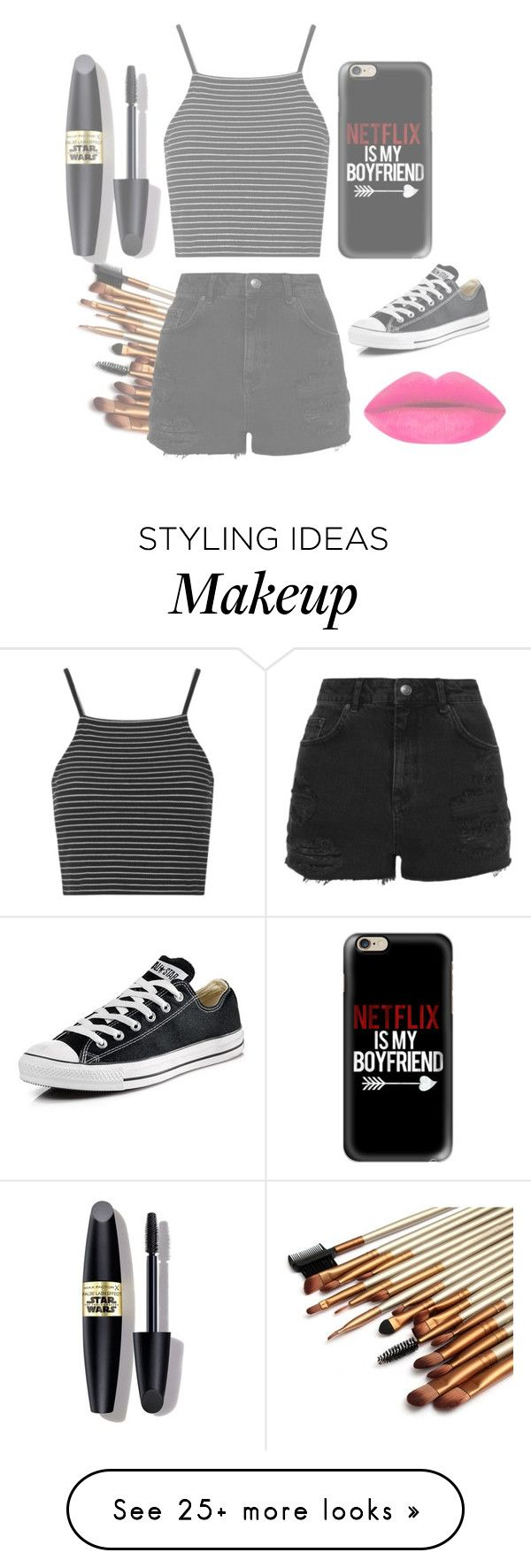 """""""Teen me"""" by shazzaandme on Polyvore featuring Topshop, Casetify, Converse, Max Factor, women's clothing, women's fashion, women, female, woman and misses"""