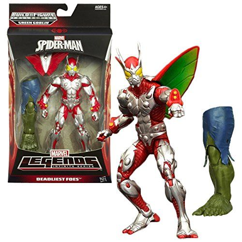 Hasbro Year 2013 Marvel Legends Infinite SpiderMan Series 7 Inch Tall Action Figure  DEADLIEST FOES BEETLE with Removable Wing and Green Goblins Left Leg ** See this great product.