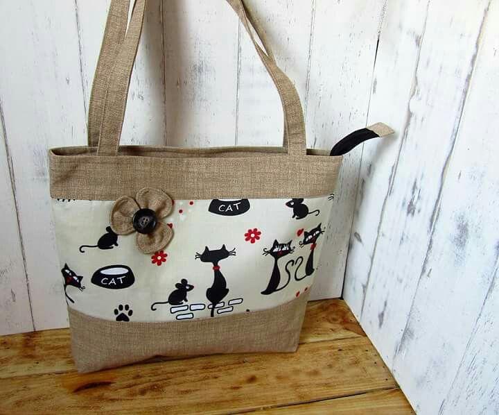 drapp cicás nagy táska cat bag