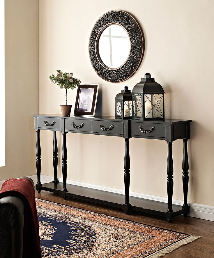 Black crackle console zulily deco pinterest for Living room 4 pics 1 word