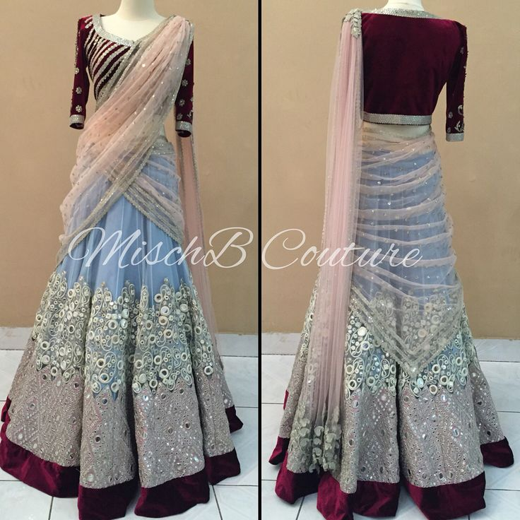 Serenity, lehenga saree by MischB Couture