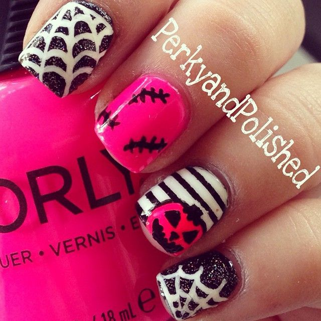 Instagram media perkyandpolished halloween #nail #nails #nailart