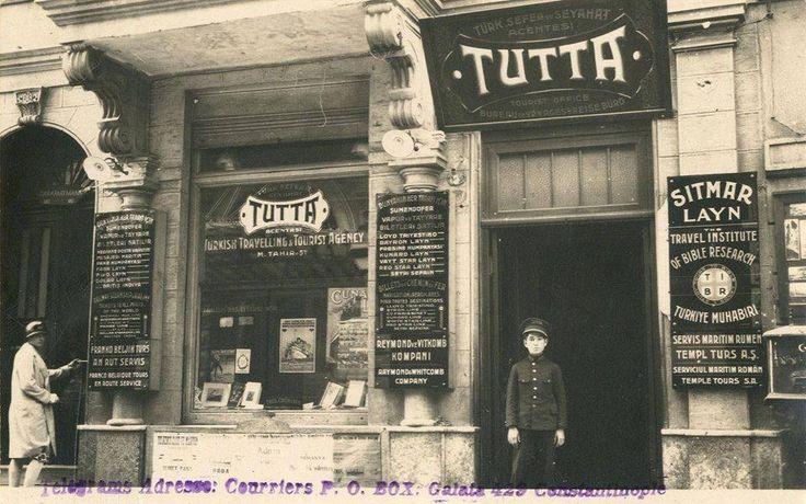 dondum kaldım bir fotoğrafta... (1920'ler Türkiye'nin ilk seyahat acentalarından TUTTA) #Beyoğlu #Istanbul #istanlook