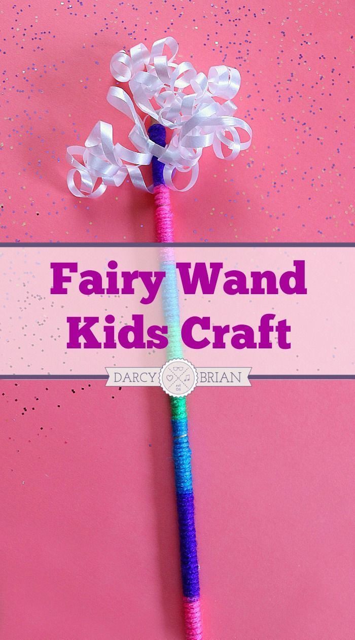 Fairy wand kids craft activity for pretend play crafts for Princess wand craft kit