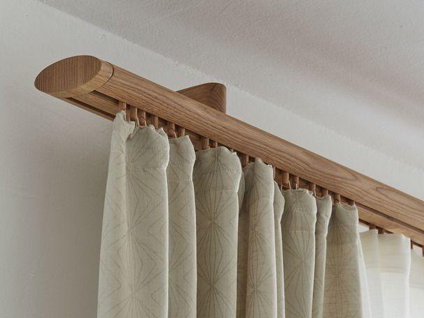 Vorhangstange Listello Oval 2 Laufig Inkl Abdeckkappen 160 Cm Buche Curtain Decor Home Curtains Wooden Curtain Rods