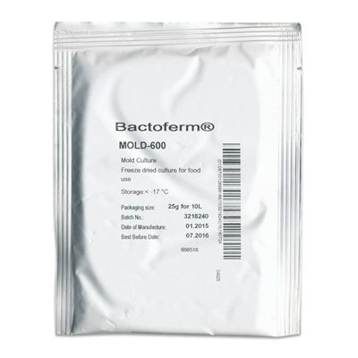 When sprayed onto a dry curing sausage, Bactoferm Mold-600 suppresses the growth of harmful flora and promotes beneficial bacteria for safe, tasty sausages.