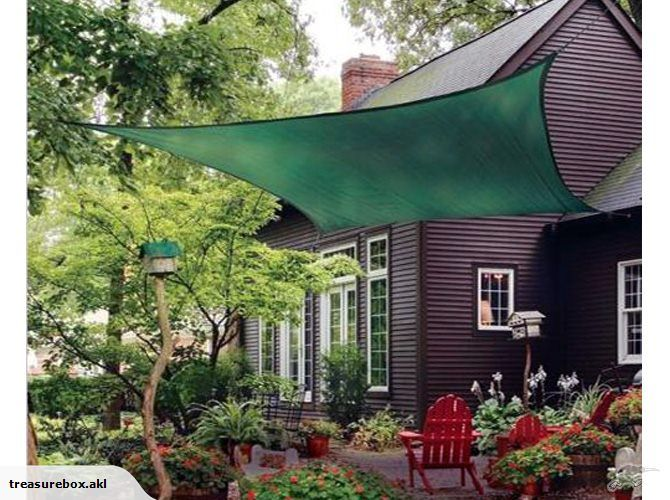 Canopy Shade Sail FOREST GREEN 5m | Trade Me