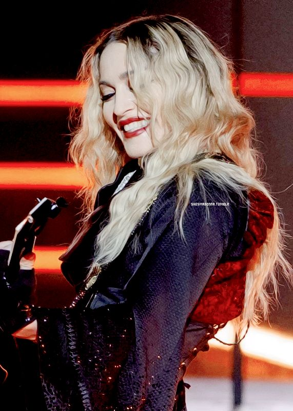 """Glowing during the """"Rebel Heart"""" Tour."""