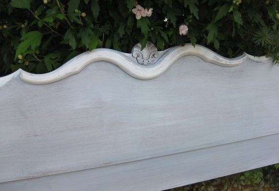 BED Full Size Headboard Vintage French Provincial by poppycottage, $345.00