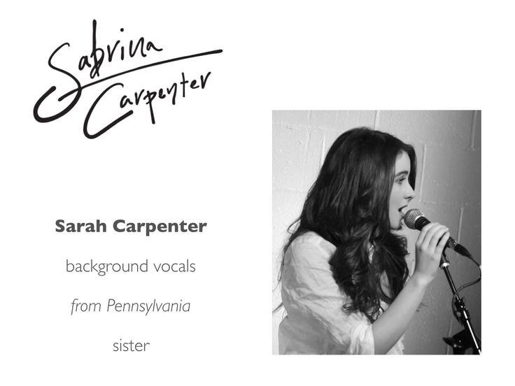 Meet the Sabrina Carpenter Band: Sarah Carpenter