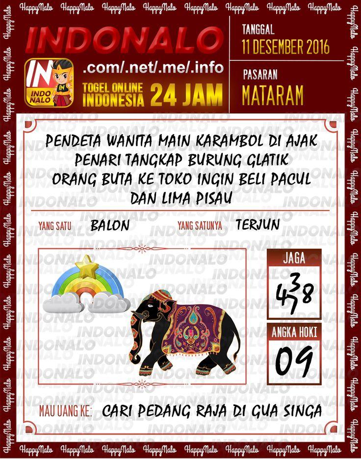 Lotre Kop 4D Togel Wap Online Live Draw 4D Indonalo Mataram 11 Desember 2016