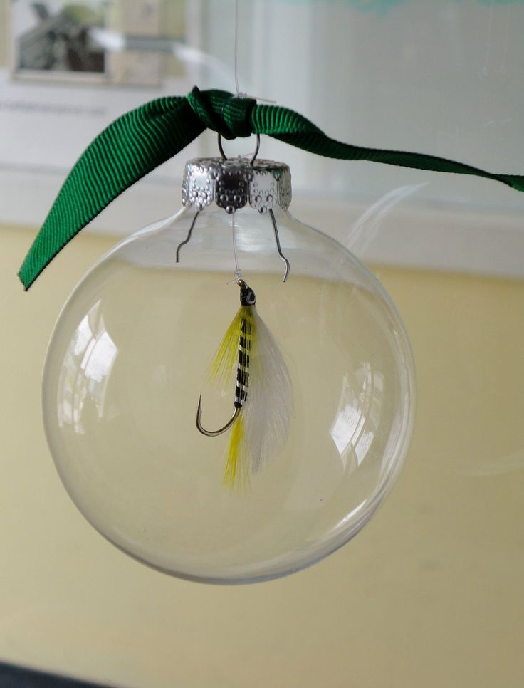 Fly Fishing Ornament. $14.95, via Etsy.
