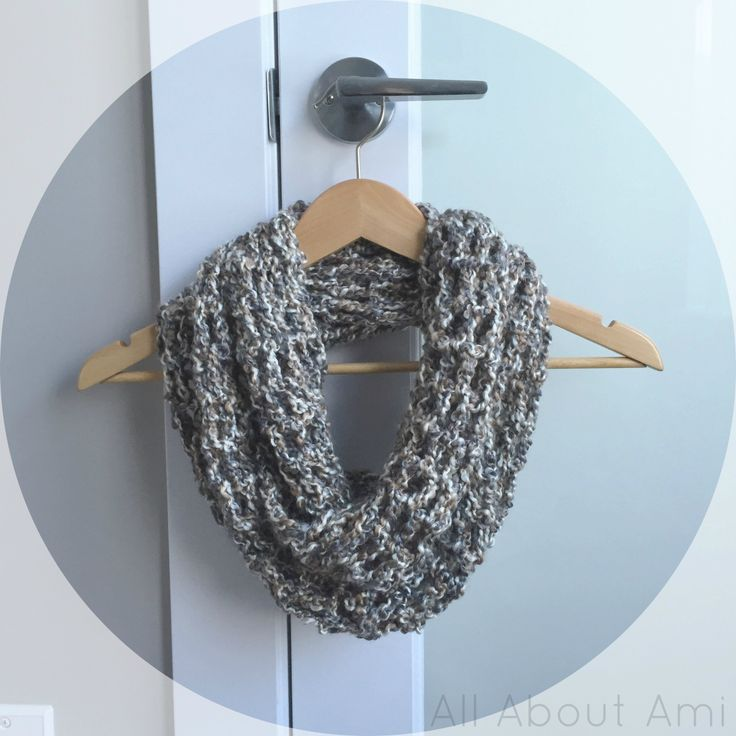 """Long Double Crochet Cowl"" using only one skein of Homespun yarn!  Gives a mesh, net-like effect that drapes and hangs beautifully :)"