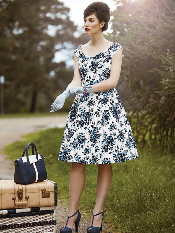 The Amalfi Rose Dress ✿ #retrostyle #vintagefashion #50s #60s