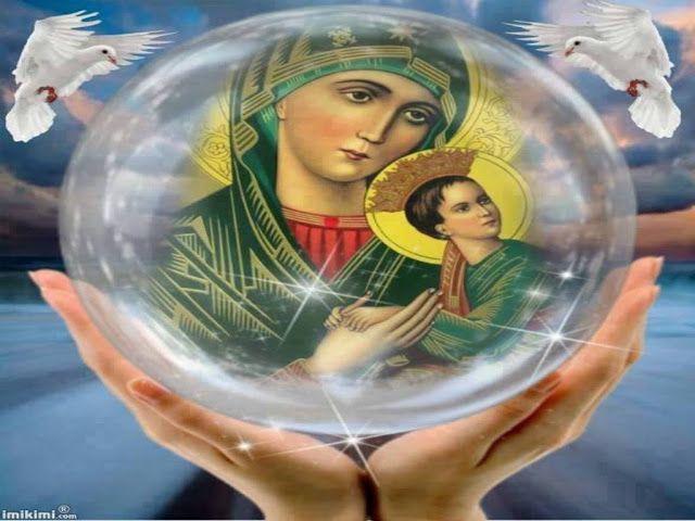 JEZUS en MARIA Groep.: MARIA MOEDER VAN ALTIJDDURENDE BIJSTAND: 27 juni: De Altijddurende Bijstand is de ononderbroken ondersteuning en aanvulling in de zwakheden en leemten, die de ziel kan en wil begeleiden tot in de Eeuwigheid, waar Gods Hart klopt als Bron van de Liefde die alles grenzeloos en tijdloos in Zich bergt.Gebed: Maria, ik kniel met een groot kinderlijk vertrouwen voor je beeltenis neer...
