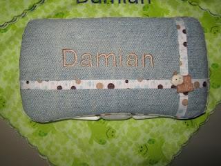 Covered diaper wipe case
